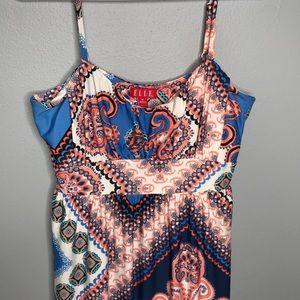 Elle | mixed print maxi dress size medium